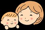 節分の豆まきの由来を子供に説明する母のイラスト画像