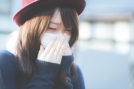 花粉症の女性A