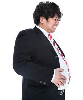 脂肪肝の男性の画像