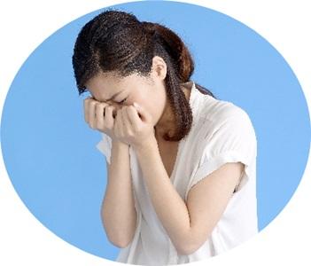 ストレス解消に泣く女性