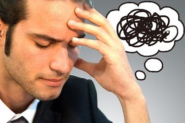 ストレスが溜まってるビジネスマン