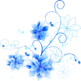 青い花の枠