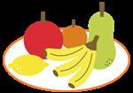 キレる子供の食生活・果物のイラスト