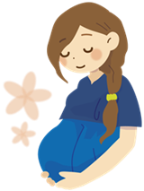 頭のいい子に育てる食べ方妊婦イラスト