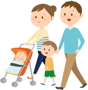 アスペルガー症候群の治療子供と親のイラスト