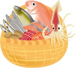 頭のいい子に育てる食べ方魚のイラスト