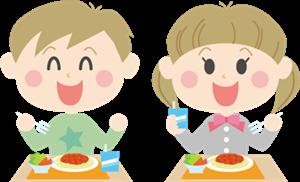 アスペルガー症候群の治療子供の給食の時間B