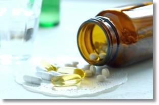 老化防止の食べ物サプリメントイラスト
