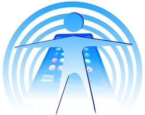 スマホの電磁波のイラストA