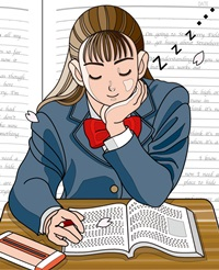 授業中の居眠り