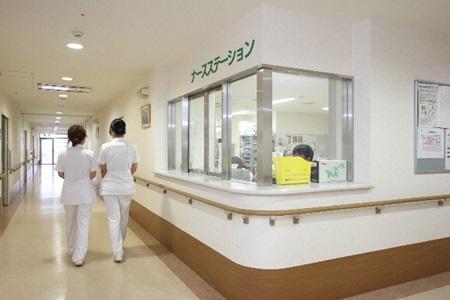 乳がん病棟のナースステーション