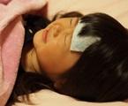 インフルエンザで寝込む女子