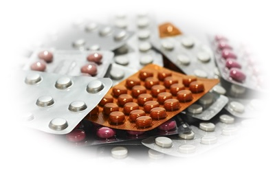 大量の薬の画像