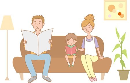 親子の風景画像