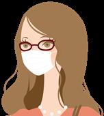 花粉症によるメガネ使用