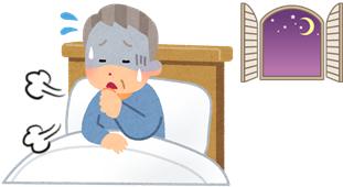 夜間の喘息発作