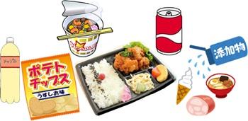 食品添加物を多く含む食品