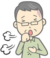 激しい咳き込み