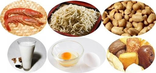 食物アレルギーとなりうる食べ物