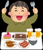 男性の食事のイラスト