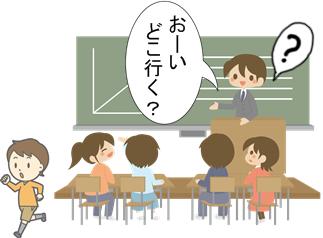 落ち着きのない生徒