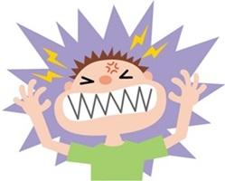 低血糖症のキレる子供の画像