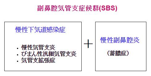 副鼻腔気管支症候群(SBS)の説明図