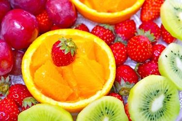 ビタミンC豊富な果物の盛り合わせの画像