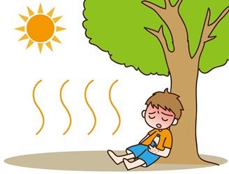 光線過敏症の少年のイメージ画像