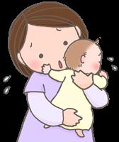 子供が夜中に咳が止まらない時は立て抱きにして背中を軽く叩く
