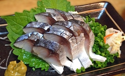 脳梗塞予防に効果的な青魚しめさばの画像