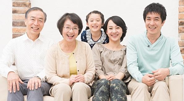 3世代家族の画像