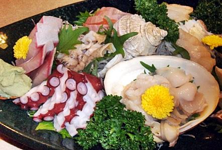 魚介類のお刺身の画像