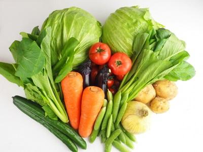 ビタミン豊富な新鮮野菜の画像