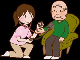 高齢者の血圧測定の画像