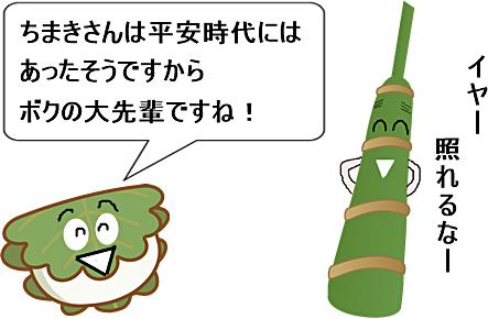 柏餅と粽の発祥した年の比較の説明画像